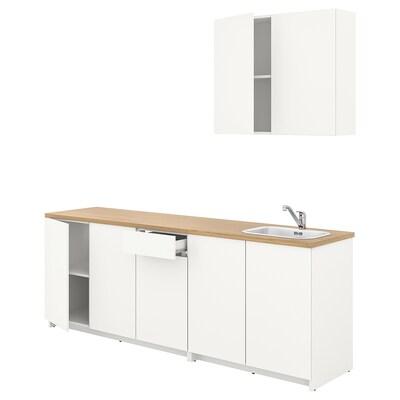 KNOXHULT Dapur, putih, 200x61 cm