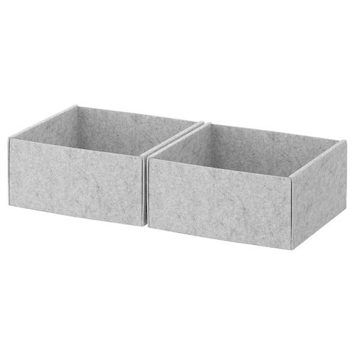 KOMPLEMENT kotak kelabu muda 25 cm 27 cm 12 cm 2 unit