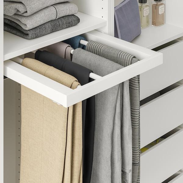 KOMPLEMENT Penyangkut seluar tarik keluar, putih, 50x58 cm