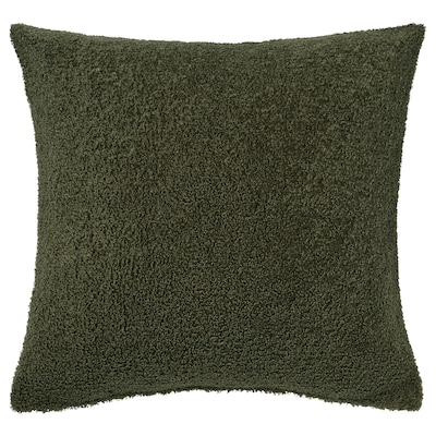 KRYDDBUSKE Sarung kusyen, hijau gelap, 50x50 cm