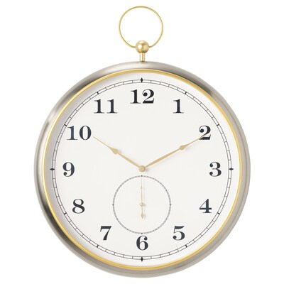 KUTTERSMYCKE Jam dinding, warna perak, 46 cm
