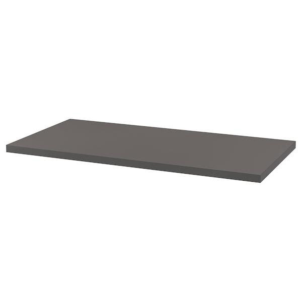 LAGKAPTEN Bahagian atas meja, kelabu gelap, 120x60 cm