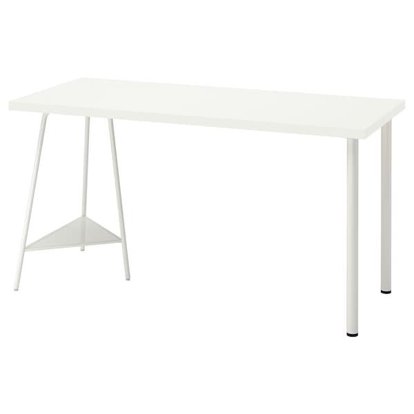 LAGKAPTEN / TILLSLAG Meja, putih, 140x60 cm