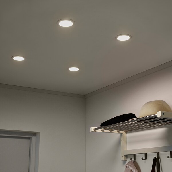 LAKENE Lampu sorot ceruk LED, putih opal