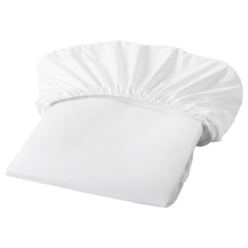 LENAST pelindung tilam putih 120 cm 60 cm