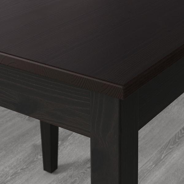 LERHAMN Meja dan 4 kerusi, hitam coklat/Vittaryd kuning air, 118x74 cm