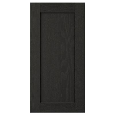 LERHYTTAN Pintu, perwarna hitam, 30x60 cm