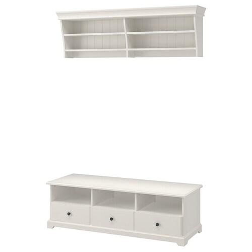 LIATORP kombinasi storan TV putih 145 cm 49 cm 45 cm 100 kg 50 inci