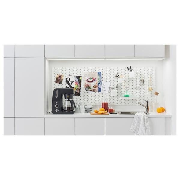 LILLTRÄSK Permukaan kerja, putih/berlamina, 246x2.8 cm