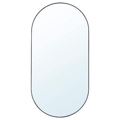 LINDBYN Cermin, hitam, 60x120 cm