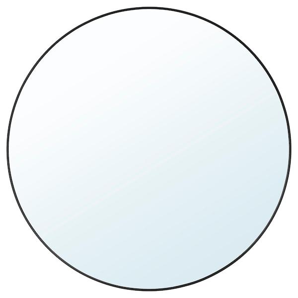 LINDBYN Cermin, hitam, 80 cm