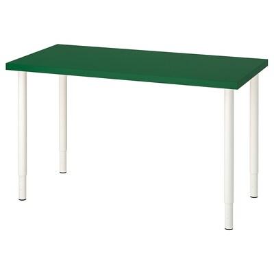 LINNMON / OLOV Meja, hijau/putih, 120x60 cm