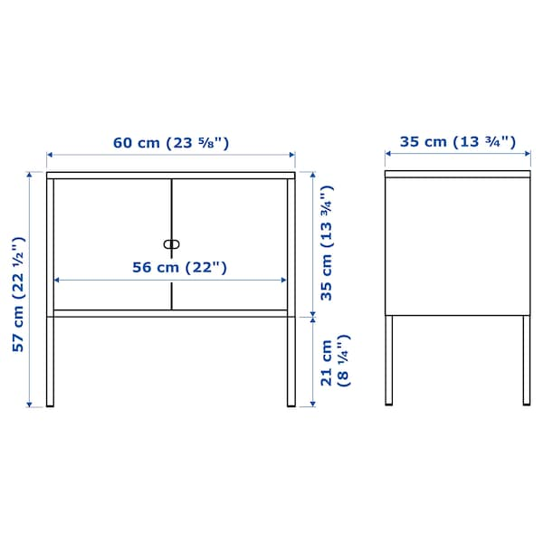 LIXHULT Kabinet, logam/kelabu, 60x35 cm