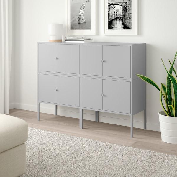 LIXHULT Kombinasi kabinet, kelabu, 120x35x92 cm
