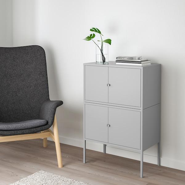 LIXHULT Kombinasi kabinet, kelabu, 120x35x57 cm