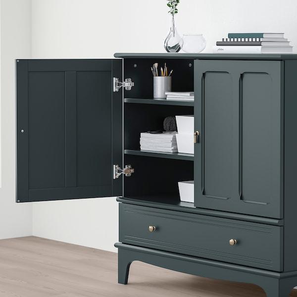 LOMMARP Kabinet, biru hijau gelap, 102x101 cm