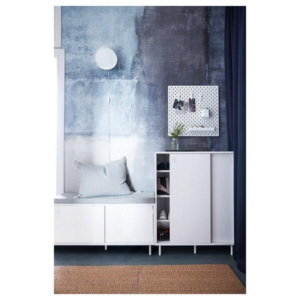 MACKAPÄR Bangku dgn tempat storan, putih, 100x51 cm