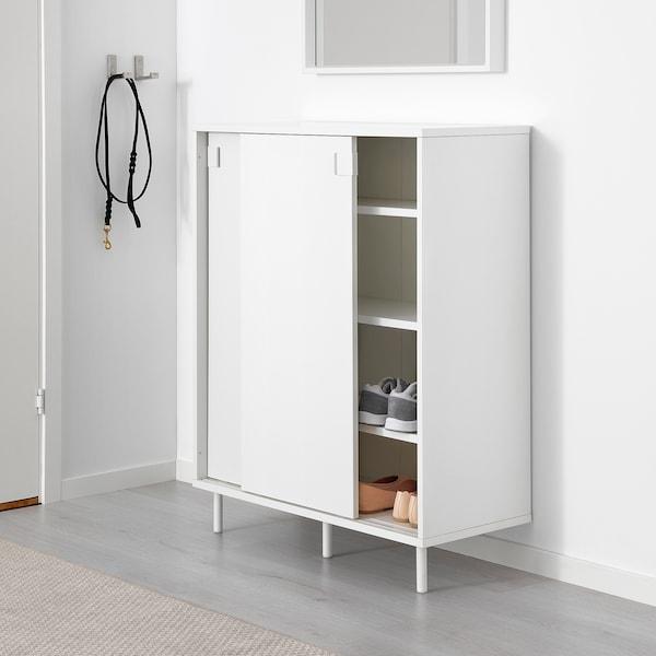 MACKAPÄR Kabinet/tempat menyimpan kasut, putih, 80x102 cm