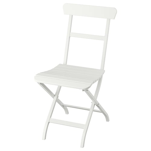 MÄLARÖ kerusi, luar boleh lipat putih 110 kg 40 cm 54 cm 85 cm 35 cm 38 cm 46 cm