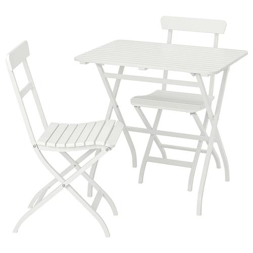 MÄLARÖ meja + 2 kerusi. luar putih