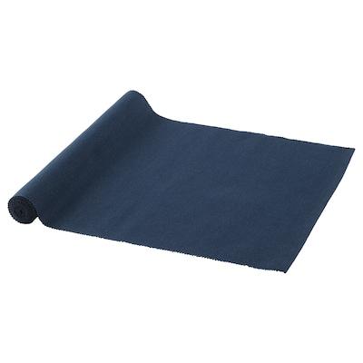 MÄRIT Selendang meja, biru gelap, 35x130 cm