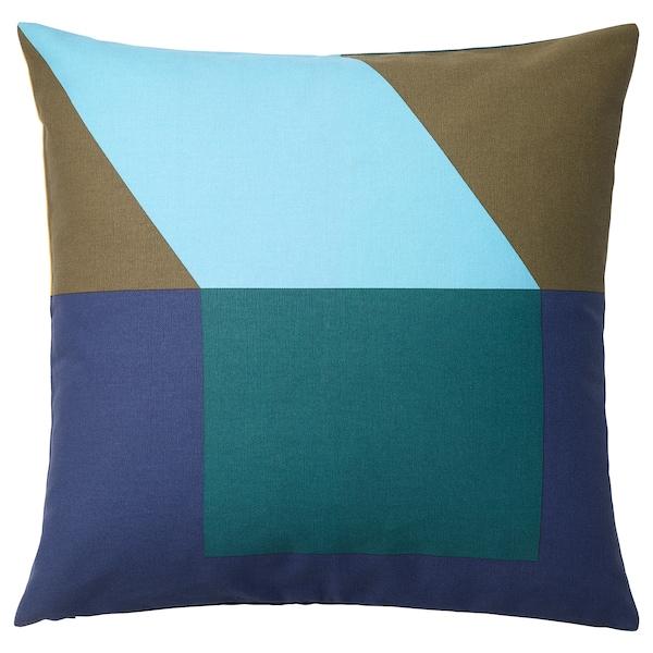 MAJALISA sarung kusyen biru/hijau/kuning 50 cm 50 cm