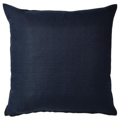 MAJBRÄKEN Sarung kusyen, hitam biru, 50x50 cm