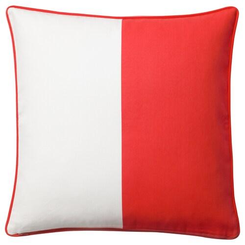 MALINMARIA sarung kusyen merah/putih 50 cm 50 cm