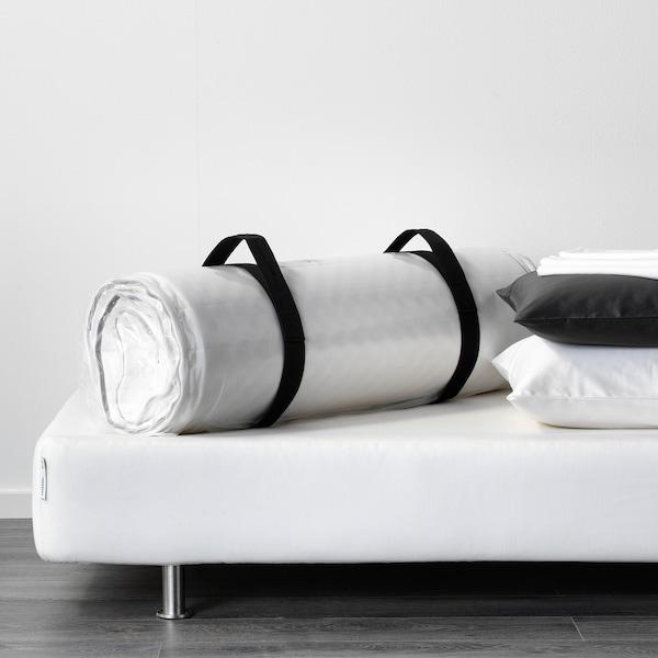 MALVIK Tilam busa, padat/putih, 140x200 cm
