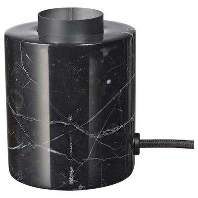 MARKFROST Lampu meja, marmar hitam