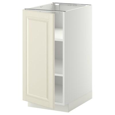 METOD Kabinet dasar + para-para, putih/Bodbyn putih pudar, 40x60x80 cm