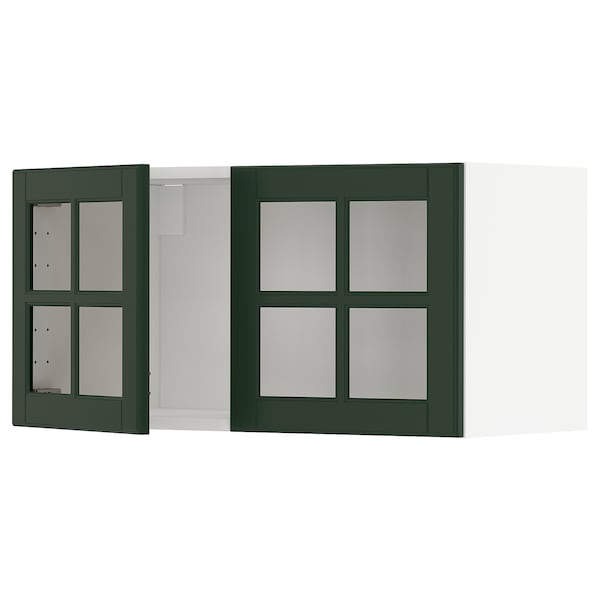 METOD Kabinet dinding + 2 pintu kaca