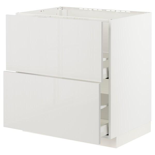 METOD / MAXIMERA Kabinet dasar sink + 2 depan/2 laci