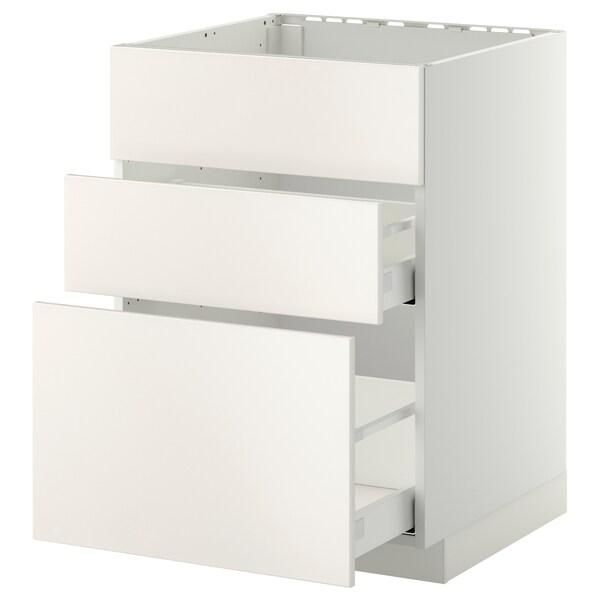 METOD / MAXIMERA Kabinet dasar sink + 3 depan/2 laci
