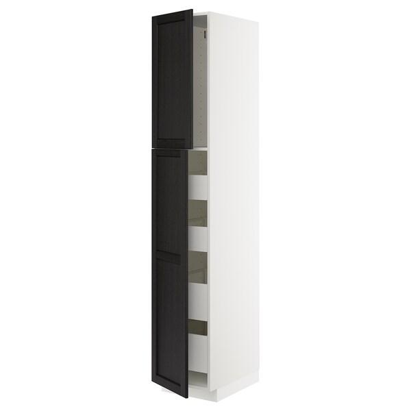 METOD / MAXIMERA Kabinet tinggi + 2 pintu/4 laci