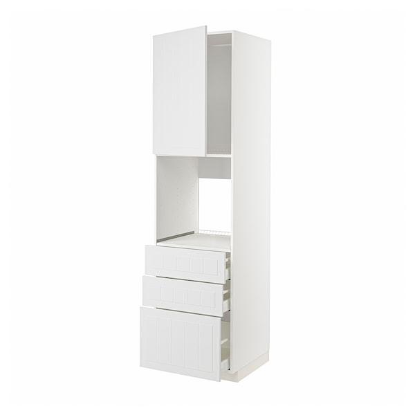 METOD / MAXIMERA Kabinet tinggi ketuhar+2 pintu/laci