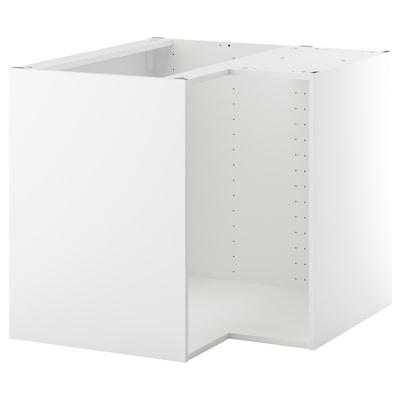 METOD Rangka kabinet dasar penjuru, putih, 88x88x80 cm