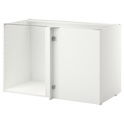 METOD Rangka kabinet dasar penjuru, putih, 128x68x80 cm