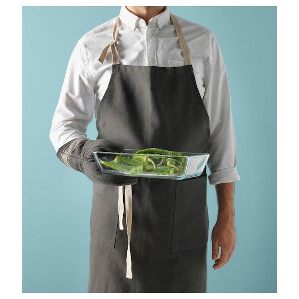 MIXTUR Pinggan hidangan/ketuhar, kaca jernih, 27x18 cm