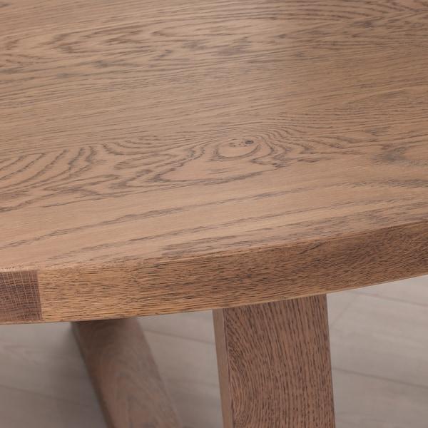 MÖRBYLÅNGA Meja, kayu oak venir coklat berwarna, 145 cm