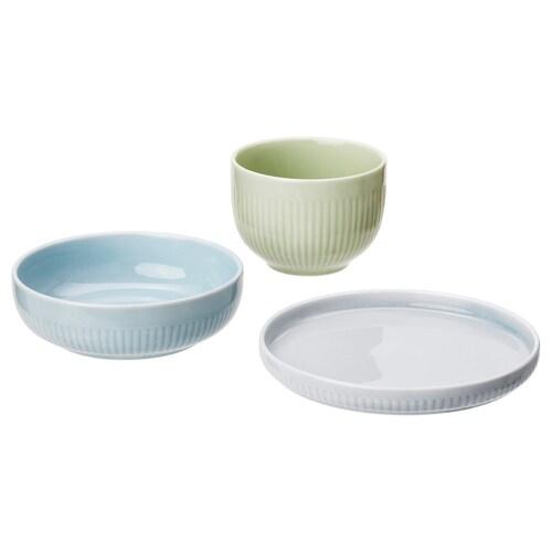 MORGONTE set 3 unit pinggan/mangkuk