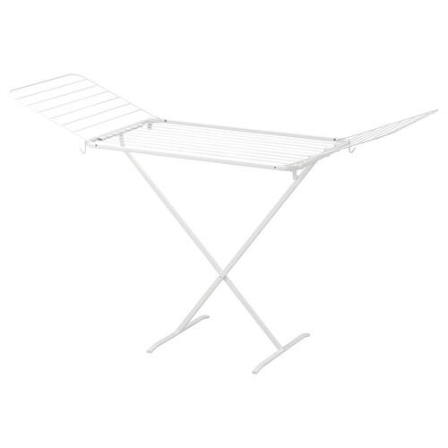 MULIG rak mengering, dalam/luar putih 173 cm 57 cm 103 cm
