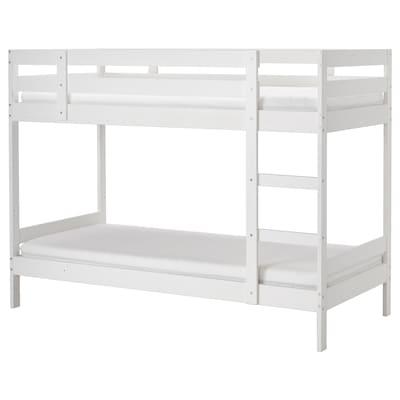 MYDAL Rangka katil 2 tingkat, putih, 90x200 cm