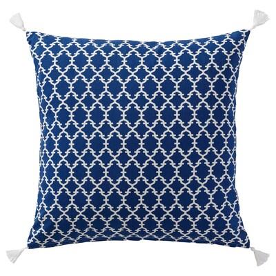 NÄBBMAL Kusyen, biru/putih, 50x50 cm