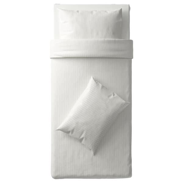 NATTJASMIN sarung kuilt dan 2 sarung bantal putih 310 inci² 2 unit 200 cm 150 cm 50 cm 80 cm