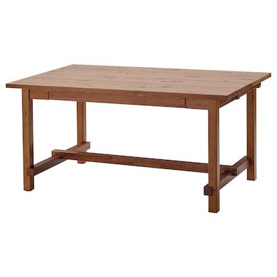 NORDVIKEN Meja boleh dipanjangkan, berwarna antik, 152/223x95 cm