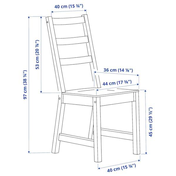 NORDVIKEN / NORDVIKEN Meja dan 4 kerusi, berwarna antik/berwarna antik, 152/223x95 cm