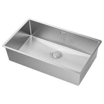 NORRSJÖN Sink sispan 1 mangkuk, keluli tahan karat, 73x44 cm