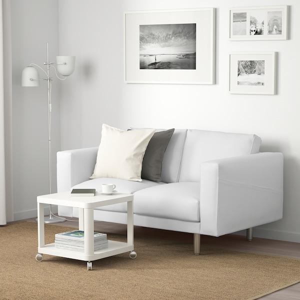 NORSBORG Sofa 2 tempat duduk, Finnsta putih/logam