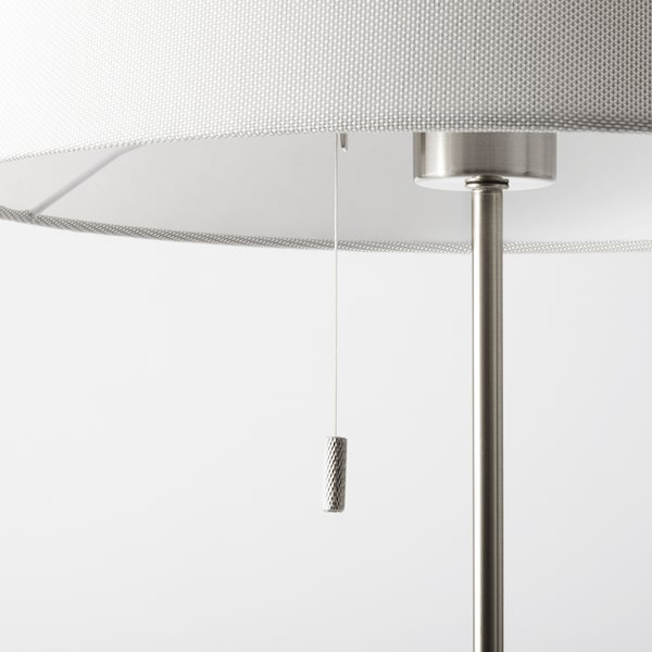 NYFORS Lampu lantai, bersadur nikel putih